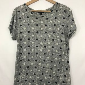 [J.Crew] polka dot t-shirt